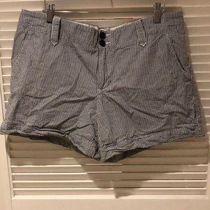 TOMMY HILFIGER Navy and White Seersucker Shorts